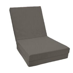 Collection Ici Gris 100% Coton Fold Out Z Lit Cube Appoint Invité Matelas Futon Chairbed-afficher Le Titre D'origine