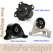 Trans Engine Motor Mount Set For 01-05 Honda Civic 1.7L Acura EL MT Trans G176