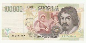 Italia-100-000-lire-1994-Caravaggio-pick-117-BB-serie-sostitutiva-XC-254174-A