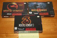 Mortal Kombat 1 2 3 (Super Nintendo SNES) NEW SEALED TRILOGY, NM/MINT, RARE SET!