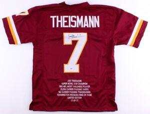feb75379a Joe Theismann Signed LE of 77   Redskins Career Highlight Stat ...