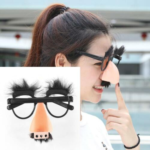 Glasses Mustache Fake Nose Clown Fancy Dress up Costume Props Fun Party Favor WT