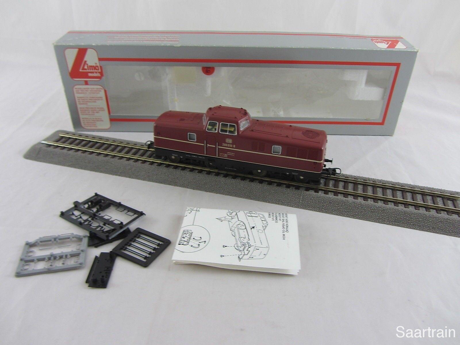 Lima 201620l diesellok 280 010 0 de la DB en rojo digital buen estado con embalaje original