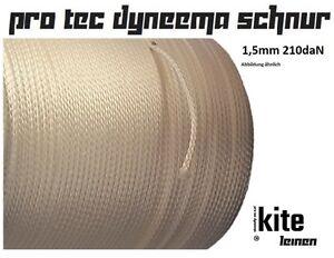 Dyneema Seil 1.5mm 210daN Ersatz Pro PET Schnur Cord Rope Neu für power Kite UL