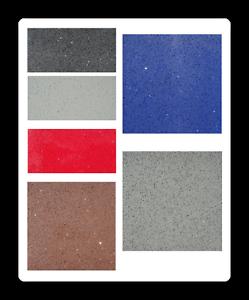 Das Bild Wird Geladen Quarzkomposit Fliesen Schwarz Braun Weiss  Blau Rot Grau