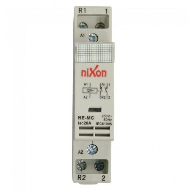 12Volt 20A 2Pole - 1NC + 1NO - Din Rail Contactor ELECTRICAL FREE SHIPPING