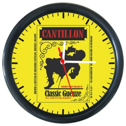 290096 CANTILLON Cola Beer Beverage Bar Pub Club Round Wall Clock