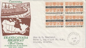 CANADA-400-5-TRANS-CANADA-HIGHWAY-ON-GINN-CACHET-FIRST-DAY-COVER