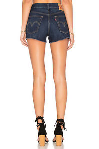 NEW-Levi-039-s-Levis-501-Wedgie-Skinny-Cutoff-High-Rize-Short-New-Size-24