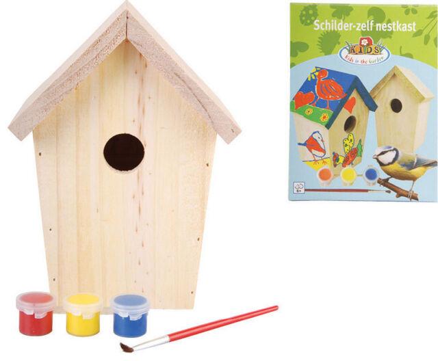 Vogelhaus zum anmalen Nistkasten Vogelhaus Vogelhäuschen 15x15x23 cm NEU OVP