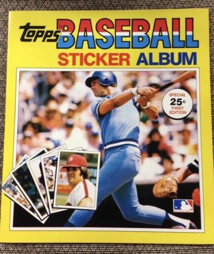 1981-1985 Baseball Sticker Books Unused Album 81 82 83 84 85 Rare! Sweet!