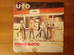 UFO-1980-vinyl-45rpm-single-YOUNG-BLOOD-in-blood-red-vinyl