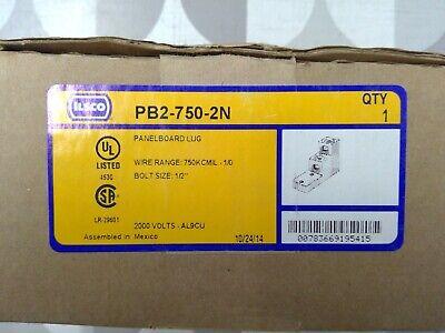 Ilsco PB2-750-2N Panelboard Lug **Free Shipping**