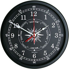 "New Trintec 14"" Atlantic Time & Tide Clock TT-B-02-14 (Black Face)"