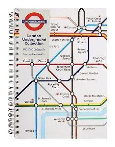 London The Tube 2 Spiralblöcke Notizbuch 2 Notebooks,U-Ba<wbr/>hn,Underground Coll.