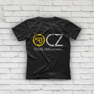 USA Logo Black T Shirt NEW Ceska Zbrojovka Firearms Guns CZ