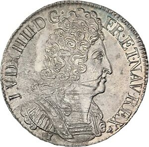Louis-XIV-Ecu-aux-trois-couronnes-1711-Rennes-Superbe-exemplaire