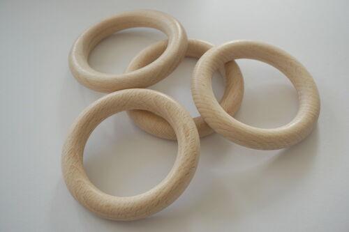 haya chapucillas -//diseño de madera Anillos de madera 85mm Ø exterior//58mm ø interior 4 unidades