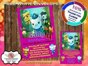 10 x Personalised Octonauts Birthday Party Invitations Invites with