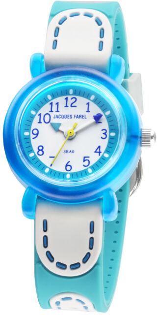 Kinderuhr Lernuhr für schmale kleine Kinderarme blau weiß türkis KFW4333 NEU
