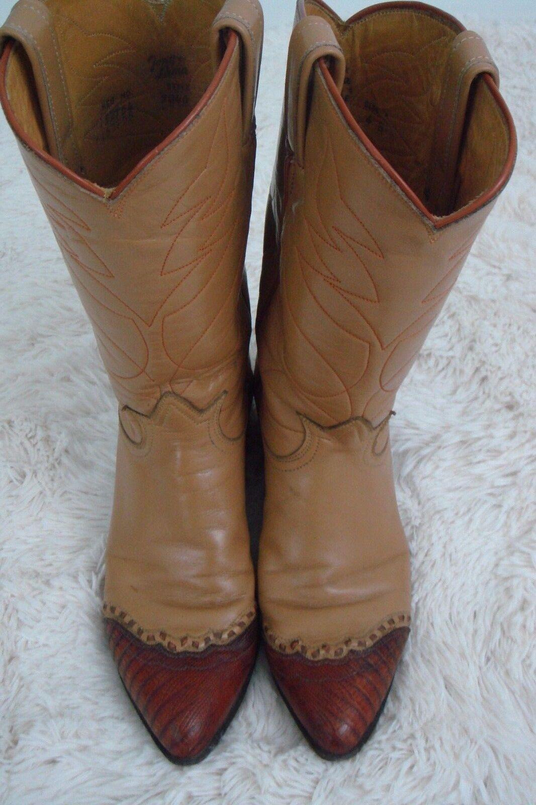 Tony Lama Mujeres botas vaquero occidental de Cuero Lagarto Puntera Vintage B