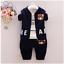 Toddler Boy 3 PCs Sport Outfit Set Joggers Size 6-36 months Tracksuit 100/%Cotton