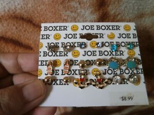 CLOSEOUT-SALE-Imported-From-USA-8-99-Joe-Boxer-9-Pairs-Earrings-A-1