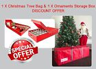 CHRISTMAS Tree Storage Bag & Ornaments Storage Box * SPECIAL COMBINATION DEAL *