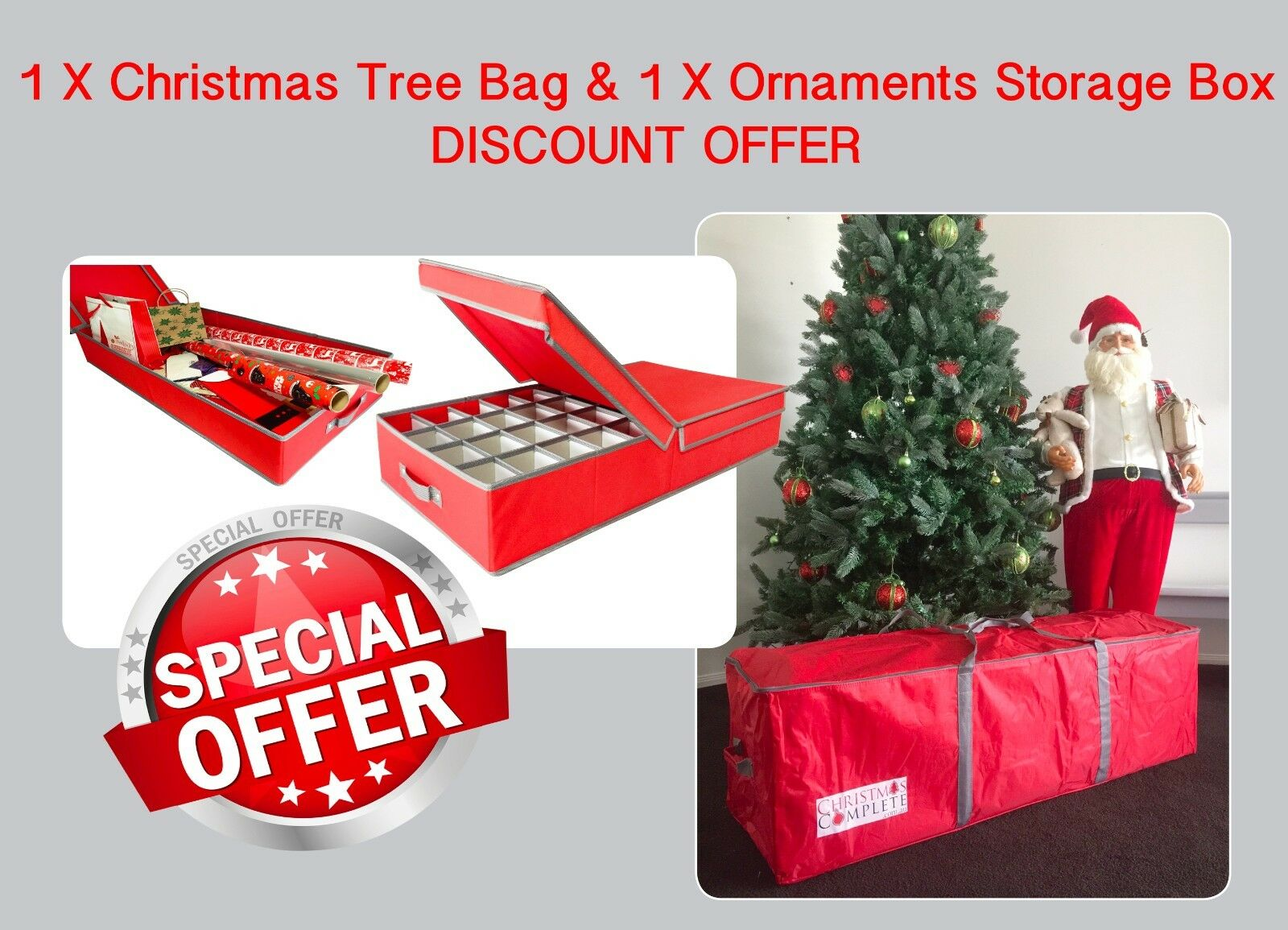 Christmas tree storage bag ornaments storage box for Christmas tree in a box