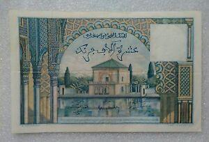 10 000 Francs Maroc 1954 Xf-afficher Le Titre D'origine Haut Niveau De Qualité Et D'HygièNe