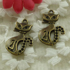 free ship 50 pieces bronze plated fox charms 26x16mm #3337