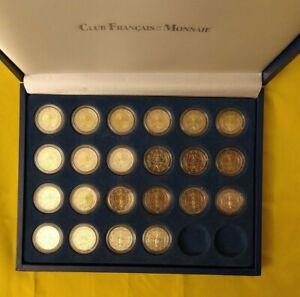 Coffret BU 22 x 2 Euro Arbre de la liberté, France 1999 à 2020, BU Sous Capsules