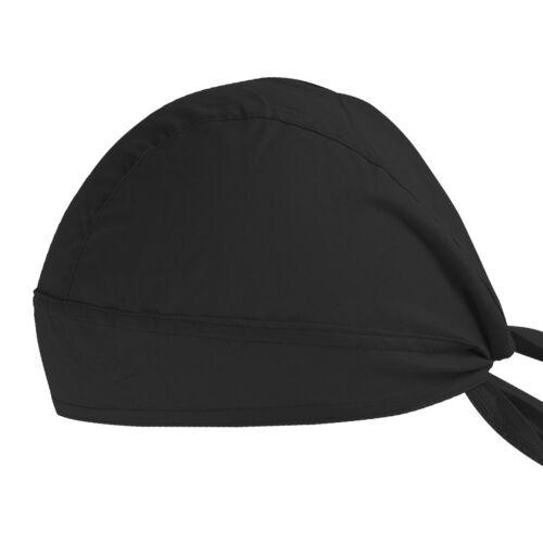 Unique Fitted Solid Tied BACK BANDANA DOO RAG Do Du Motorbake Skull Cap  New