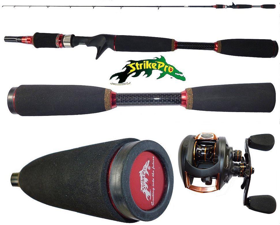 Combo bait casting canna 2.10m mulinello rotante teben pesca luccio bass spigola