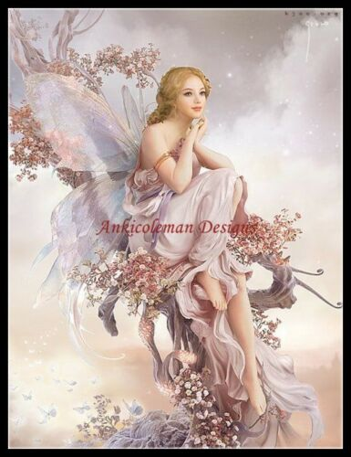 Fairy Withervine DIY Counted Cross Stitch Patterns Needlework for embroidery