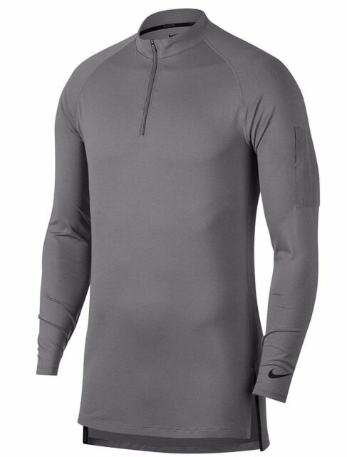 2f31889f NEW Mens Grey Nike Dry Tech Utility Long Sleeve 1/4 Zip Training Top AA1589
