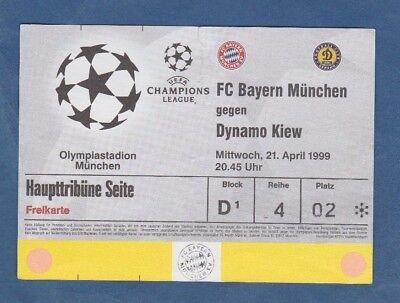 Orig.ticket Champ.league 1998/99 Bayern MÜnchen - Dynamo Kiew 1/2 Finale !! A Exquisite Handwerkskunst;