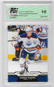 Connor-McDavid-2015-16-Upper-Deck-Collection-CM-21-Rookie-Card-PGI-10-Oilers