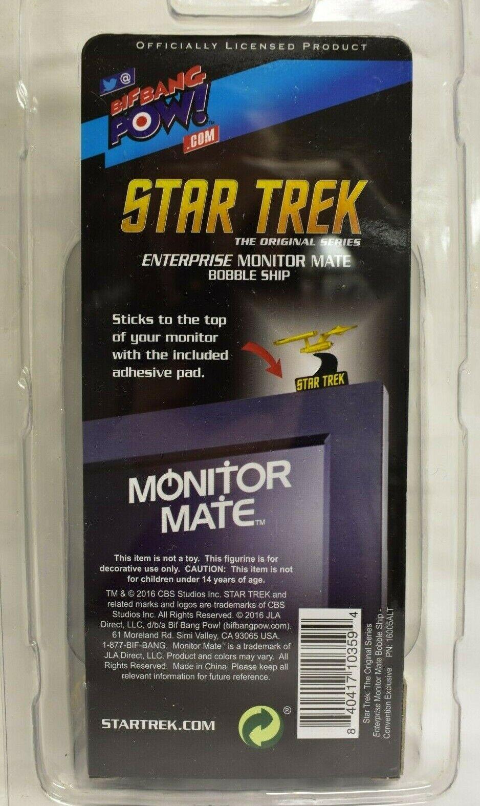 The Original Series Enterprise Monitor Mate Bobble Ship Star Trek