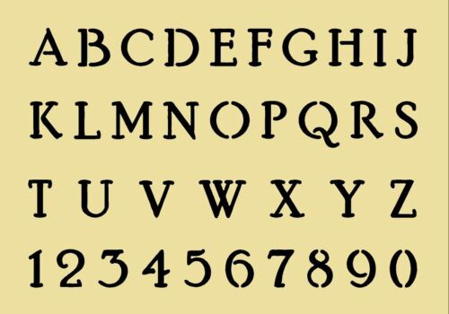 155 Alphabet Letters MYLAR STENCIL French VINTAGE FONT craft 190 micron A4//A3