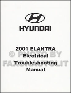 2001 Hyundai Elantra Electrical Troubleshooting Manual Wiring