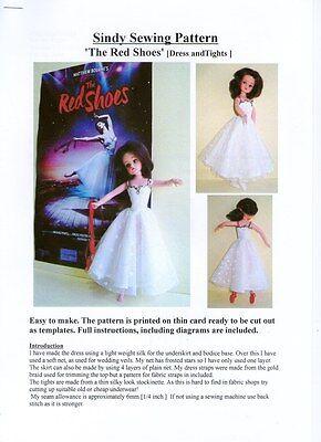 Sindy patrón de costura, el Rojo Zapatos De Ballet Vestido Y Calzas