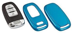 audi schl ssel cover key h lle fernbedienung blende blau. Black Bedroom Furniture Sets. Home Design Ideas