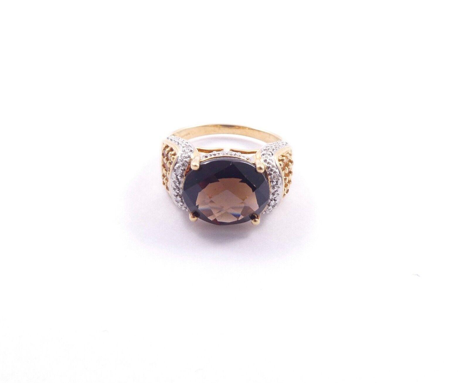 TOPAZIO Anello Anello Anello Di Diamanti oro Giallo 9 Carati Dimensione N 5.2g XL 7e43f3