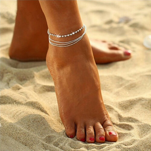 Multilayer Crystal Fußkettchen Fußkette Sommer Charm Fußkettchen Schmuck YEGD
