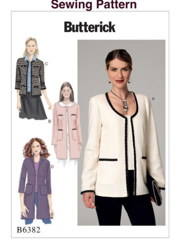 Butterick Easy Sewing Pattern B6382 Misses Jacket 6-14 or 14-22 14 ...