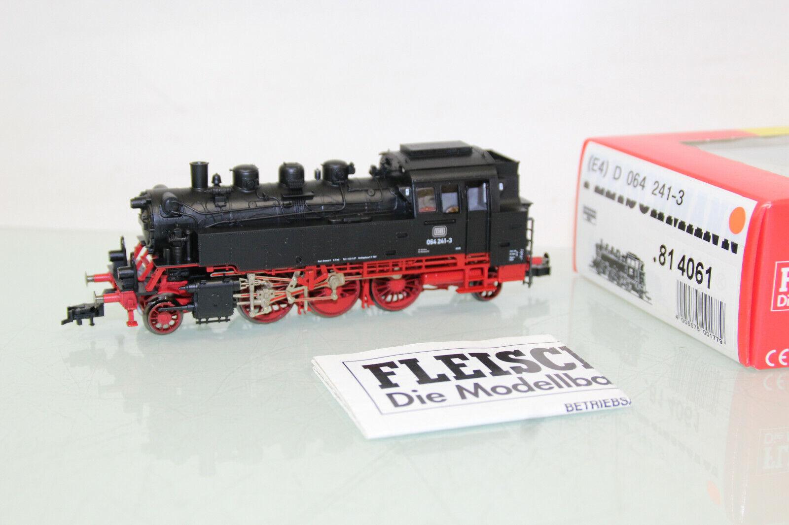 Fleischmann H0 81 4061 vapor locomotora BR 064 241-3 DB DSS + menta + caja original (CL2864)