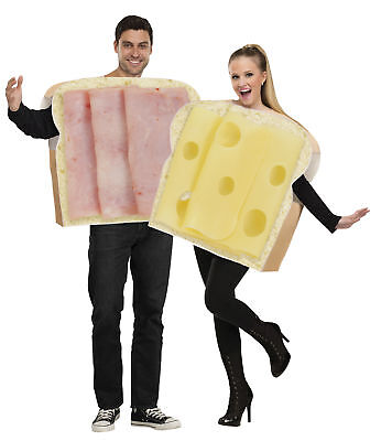Halloween Duo.Couples Ham On Bread And Swiss Cheese Adult Costume Funny Pair Duo Halloween Ebay