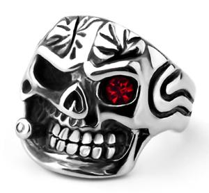 Anello-Massiccio-Teschio-Pirata-Uomo-Donna-Unisex-Acciaio-Inox-Steel-Skull-Punk