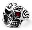 Anello-Massiccio-Teschio-Pirata-Uomo-Donna-Unisex-Acciaio-Inox-Steel-Skull-Punk miniatura 1